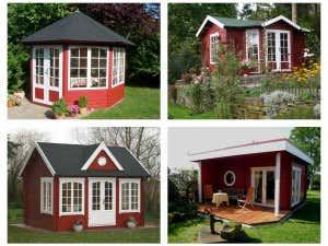 Gartenhaus_schwedenrot_collage