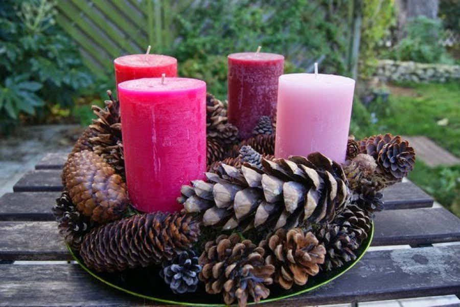 weihnachtsdeko aus naturmaterialien selber basteln frohe weihnachten in europa. Black Bedroom Furniture Sets. Home Design Ideas