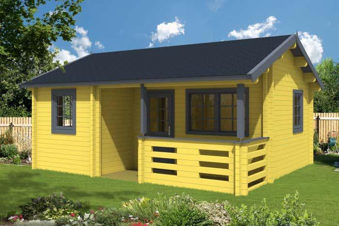 Gartenhaus gelb streichen my blog - Bunte gartenhauser ...