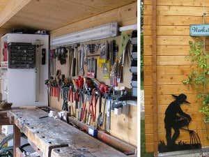 Gartenhaus als Werkstatt
