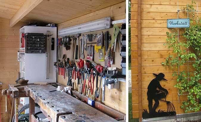 Das Gartenhaus als Werkstatt