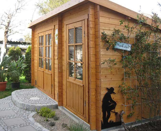 Das gartenhaus als werkstatt - Gartenhaus anbau selber bauen ...