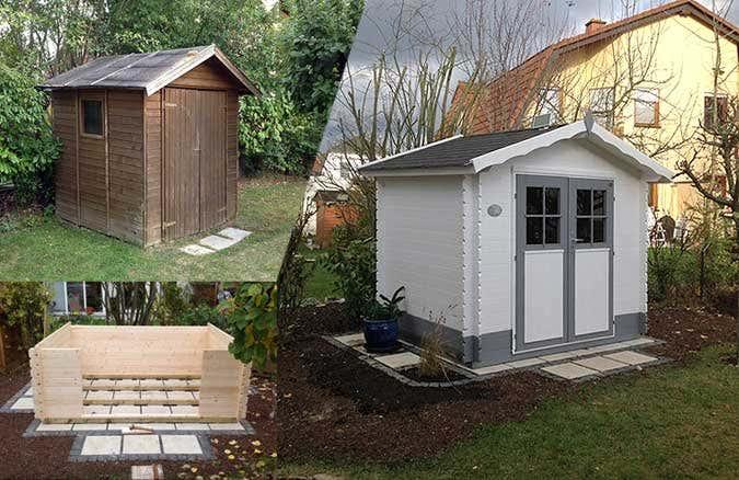 Gerätehaus Carol ersetzt altes Gartenhaus
