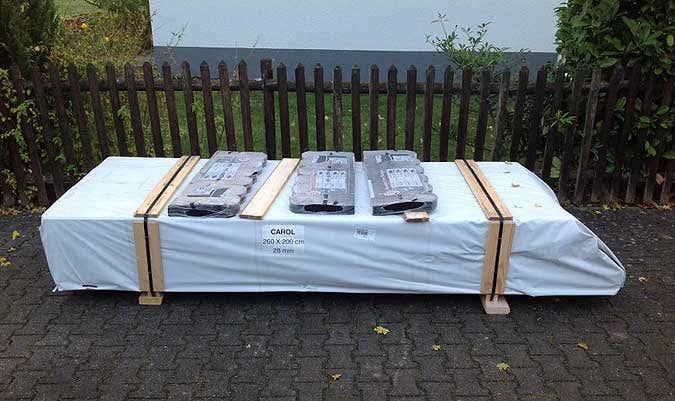 Gerätehaus CAROL verpackt