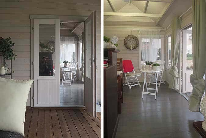 ein clockhouse als pool haus am naturpool. Black Bedroom Furniture Sets. Home Design Ideas