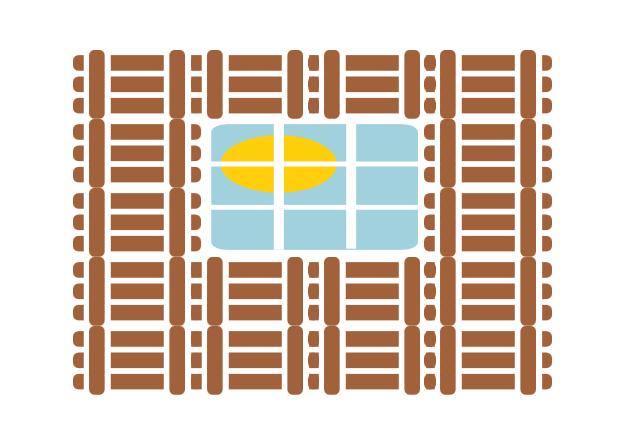 Ein Pavillon lebt von seinen offenen Fensterpartien.