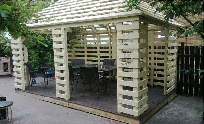 Gartenpavillon selber bauen 2 ideen mit bauanleitung - Paletten wand ...