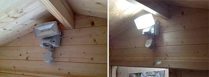 Gerätehaus CAROL: Aufbau, Einrichtung und Solarlicht