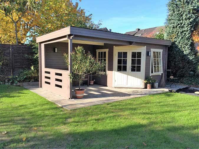 Schritt f r schritt das gartenhaus hanna 40 wird aufgebaut - Gartenhaus 40 qm ...
