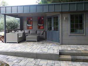 Gartenhaus Hanna-40 mit Spezialdach