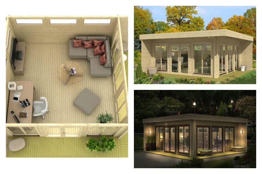 Arbeitszimmer steuerlich absetzen der gartenhaus tipp - Gartenhaus glasfront ...