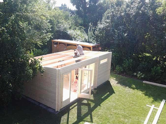 gartenhausaufbau-dach