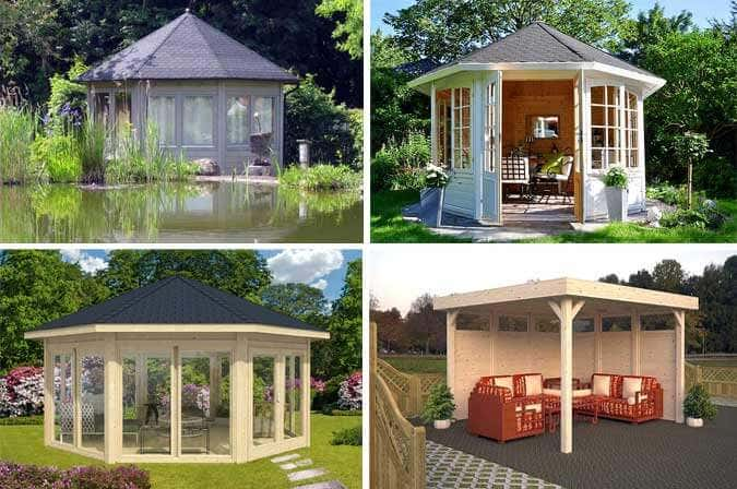 moderne gartenpavillons. Black Bedroom Furniture Sets. Home Design Ideas
