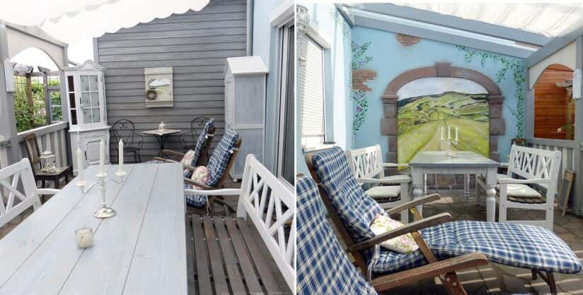 Terrassen Veranda terrasse gestalten die shabby chic terrasse als veranda