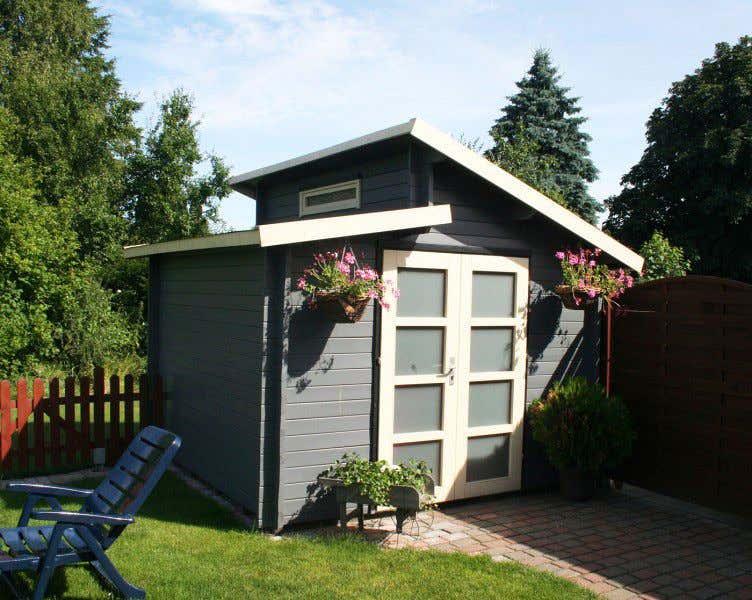 Gartenhaus mit pultdach diese modelle machen neidisch - Gartenhaus romantisch ...