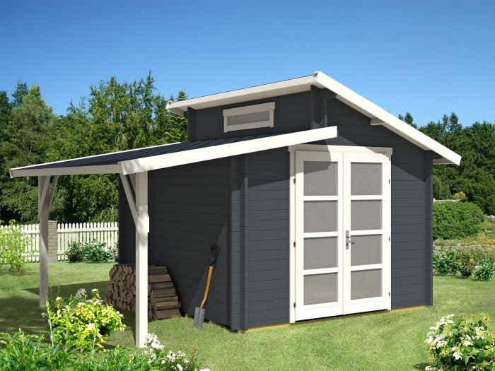 Gartenhaus Holz Mit Schleppdach ~ Gartenhäuser wie unser Gartenhaus Aktiva 28 mit Schleppdach sind in