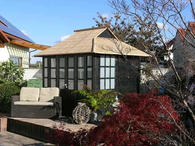 Das gartenhaus im japanischen stil for Japanisches dach