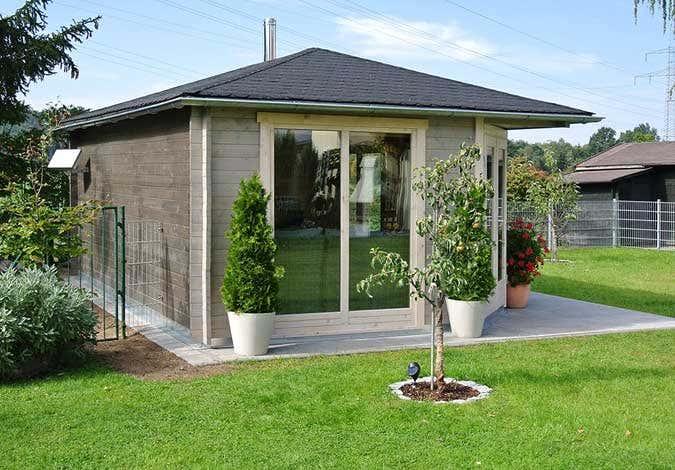 5 eck gartenhaus julia 40 aufbau und einrichtung. Black Bedroom Furniture Sets. Home Design Ideas