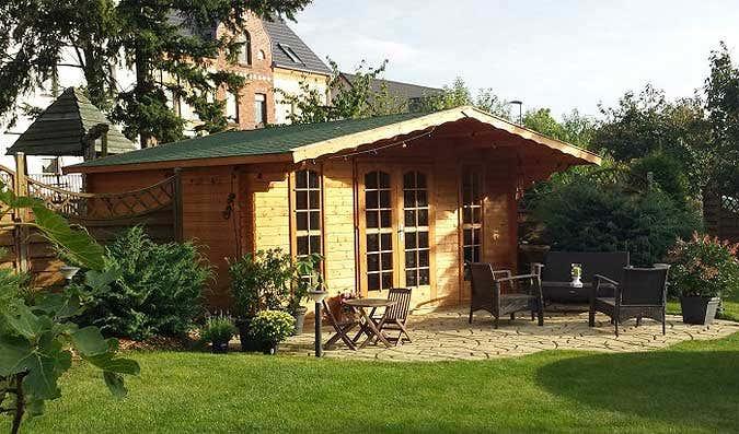 Ein rustikales gartenhaus - Gartenhaus inneneinrichtung ...
