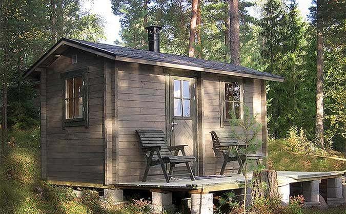 ein rustikales gartenhaus. Black Bedroom Furniture Sets. Home Design Ideas