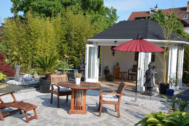 Gartenhaus einrichten 6 ideen f r kleine gartenh user - Bunte gartenhauser ...