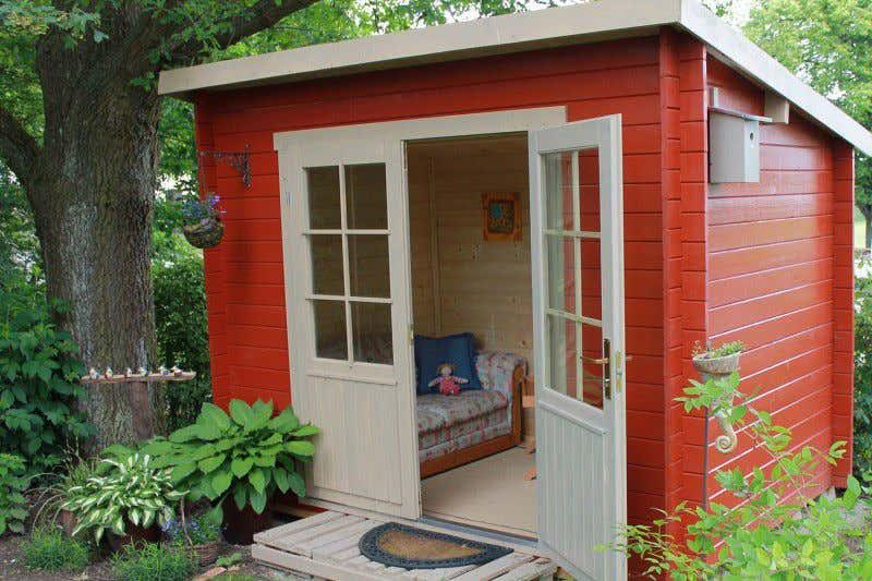 gartenhaus skandinavisch einrichten my blog. Black Bedroom Furniture Sets. Home Design Ideas