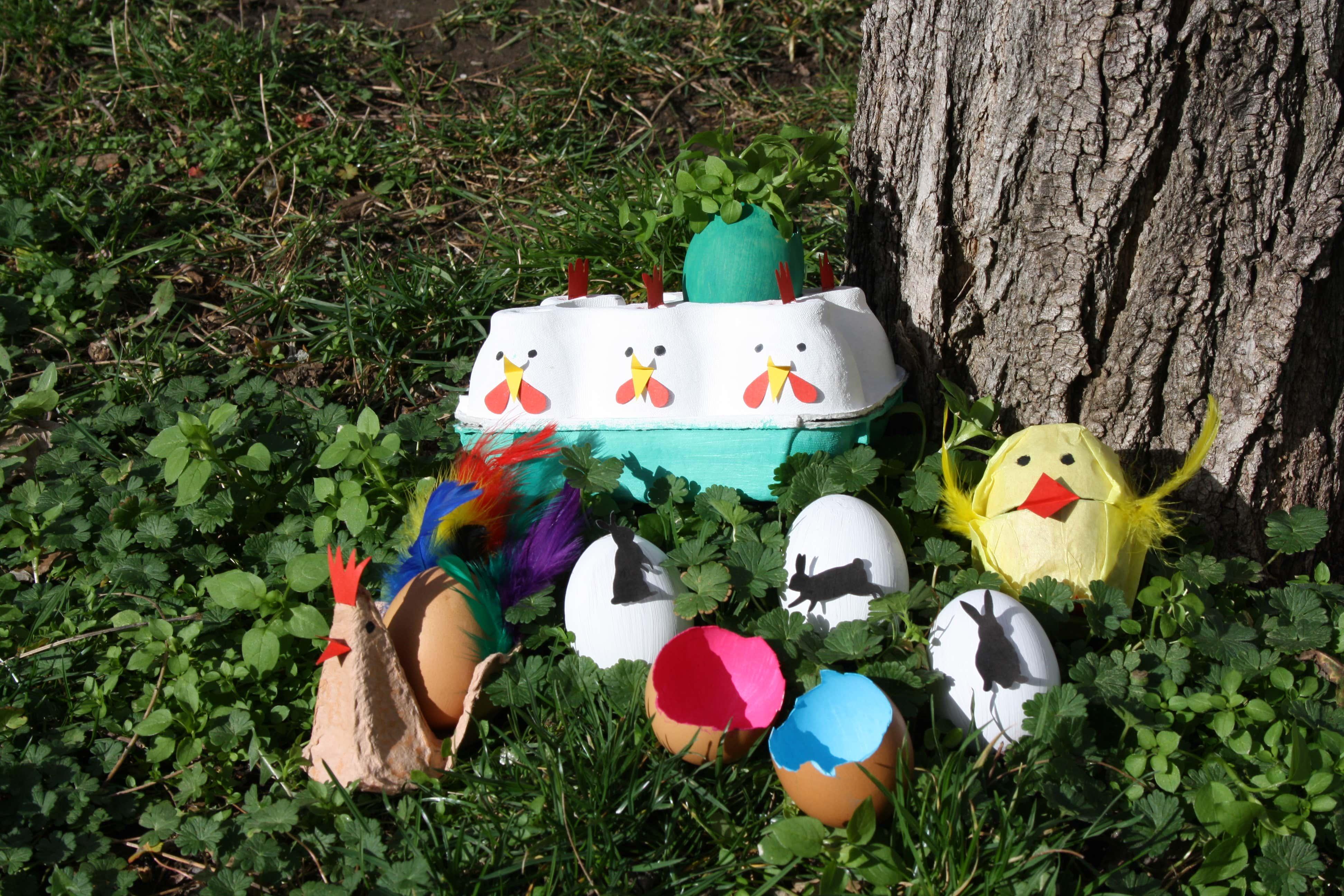 Basteln f r ostern 6 ideen zum basteln mit eiern - Garten bastelideen ...