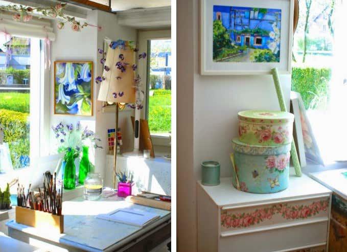 Aquarell Malerei Blumen Atelier