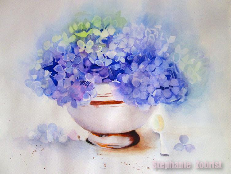 Aquarell Blumen malen