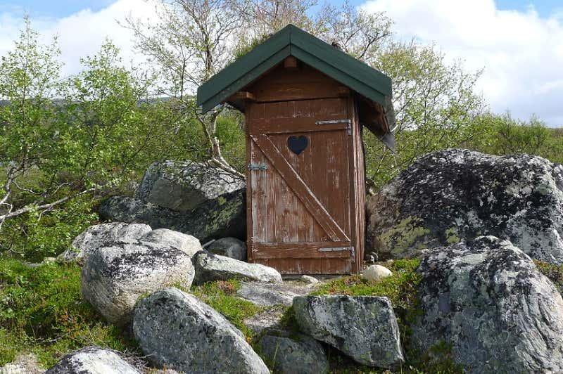 Gartenhaus-Toilette
