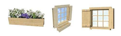 von lasita maja die 2 raum gartenhaus serie borkum. Black Bedroom Furniture Sets. Home Design Ideas