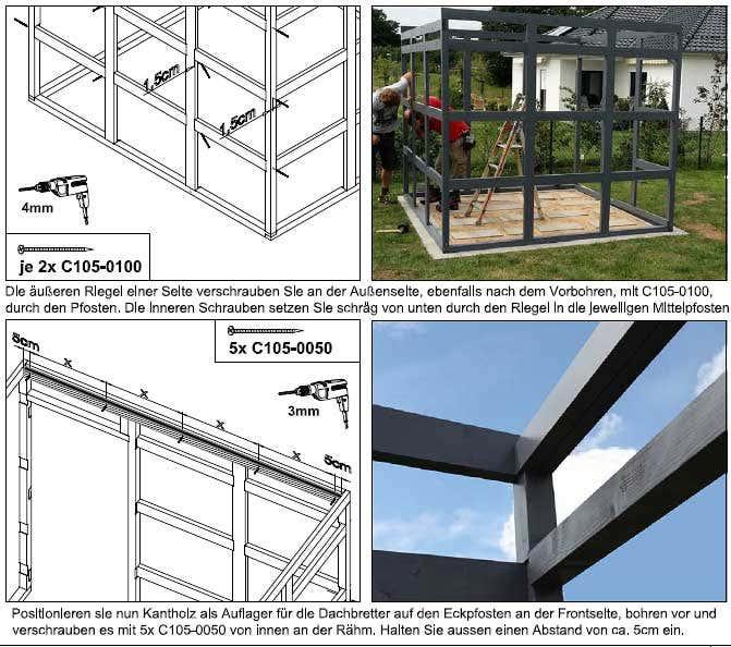 gartenhaus crosscube modernes design leichte montage. Black Bedroom Furniture Sets. Home Design Ideas