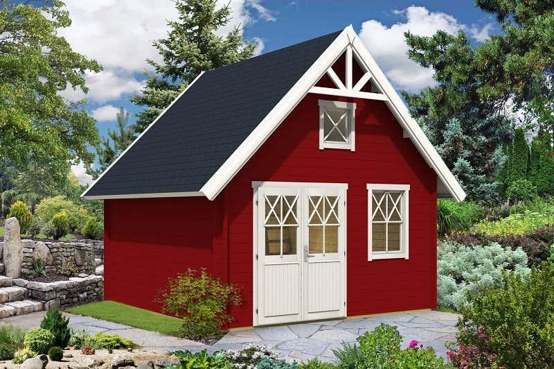 Garten gestalten mit der farbe rot von beet zu gartenhaus - Skandinavisches gartenhaus ...