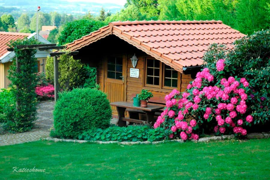 """""""Opas Hütte"""" für die Treffen mit den Taubenfreunden."""