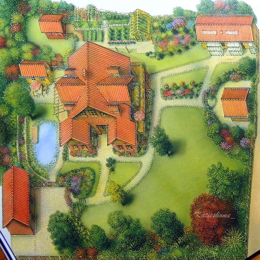 Ein Überblick über das Gelände: Ein liebevoll angelegter Garten auf 3000qm mit mehreren Gartenhäusern und vielen Rückzugsorten.