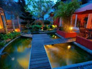 Gartenhaus-indirektes -licht