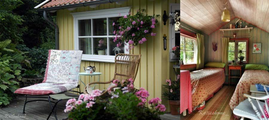 Die Schwedenhütte wird auch als Gästehaus benutzt.