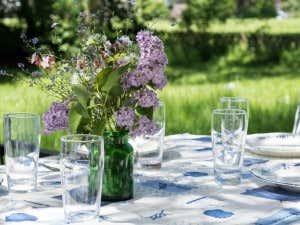 Gartenparty-Tischdeko