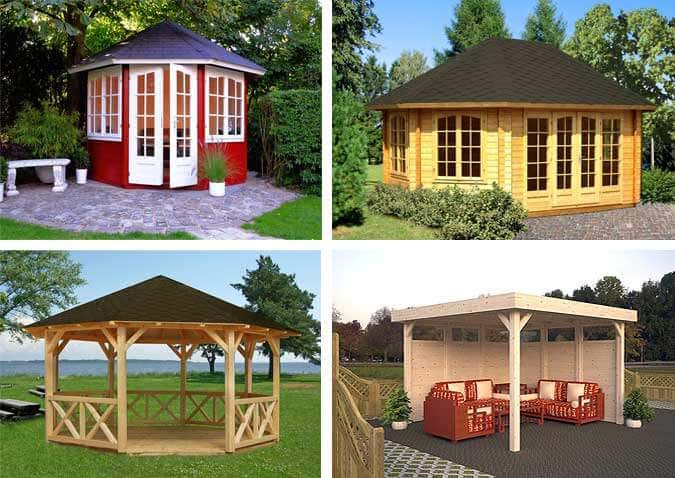 ein palmako pavillon als highlight im garten. Black Bedroom Furniture Sets. Home Design Ideas