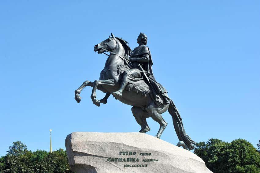 bronzene Statue Peter der Große