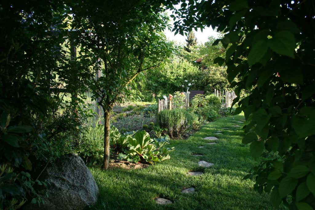 Eingang in die Gartenparzelle von Frau Meise.
