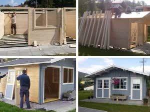 Aufbau Gartenhaus Nevis44 Iso