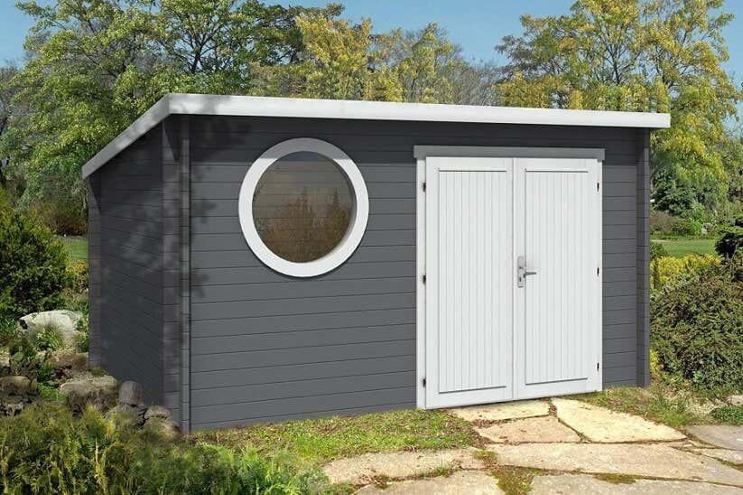 das gartenhaus maria rondo 44 wird aufgebaut fotostory. Black Bedroom Furniture Sets. Home Design Ideas