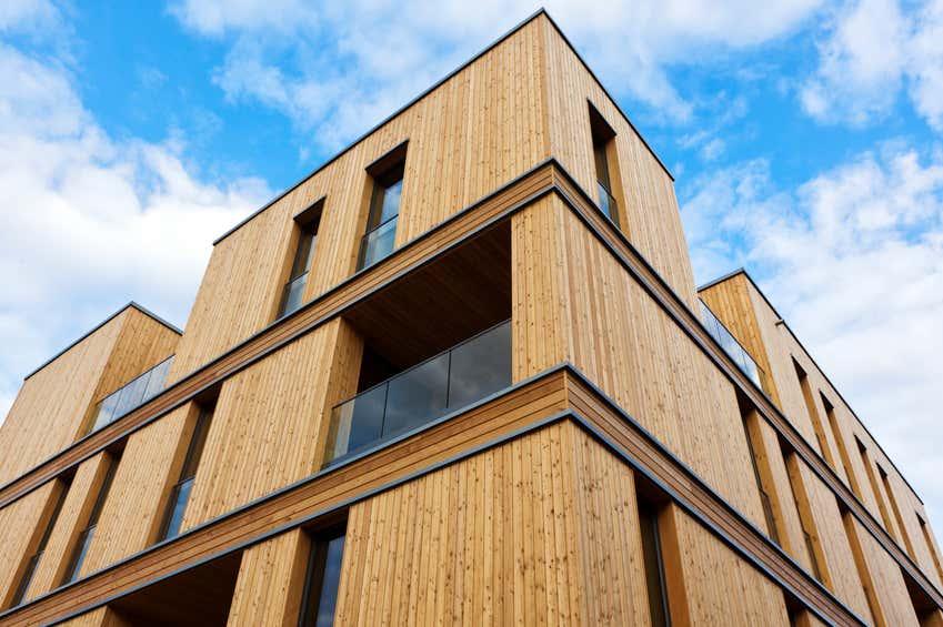 Modernes oekologisches Holzhaus