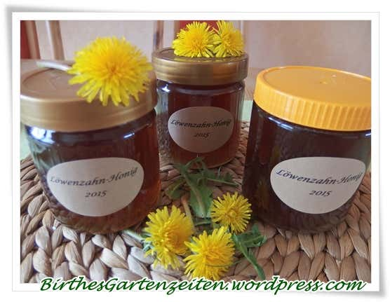 Honig in Einmachgläsern