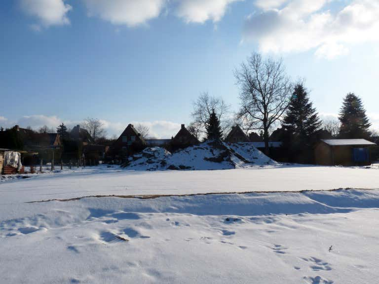 Grundstück Im Winter Bevor Der Neue Garten Angelegt Wird