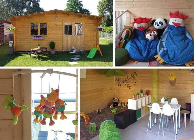 Ein gartenhaus als kinderhaus kindertagespflege kreativ - Weinfass als gartenhaus ...
