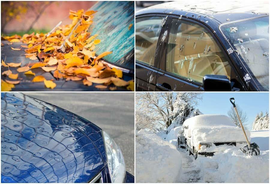 Schutz vor Umwelteinflüssen für das Auto.