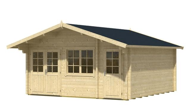 Gartenhaus Nevis-70 Iso Seitenansicht