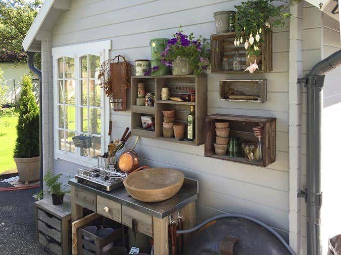 Aussenküche im Garten